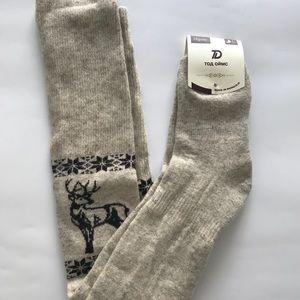 4d95dbe4bfa Tod Socks Accessories - Woman s 100% Organic Wool Thigh High Thick Socks